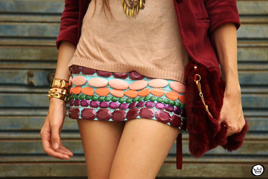 FashionCoolture 17.12.2012 Xiquita Bakana velvet Choies clutch fur clutch Kafé braceletes mix Asos  (3)