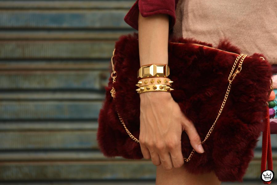 FashionCoolture 17.12.2012 Xiquita Bakana velvet Choies clutch fur clutch Kafé braceletes mix Asos  (6)