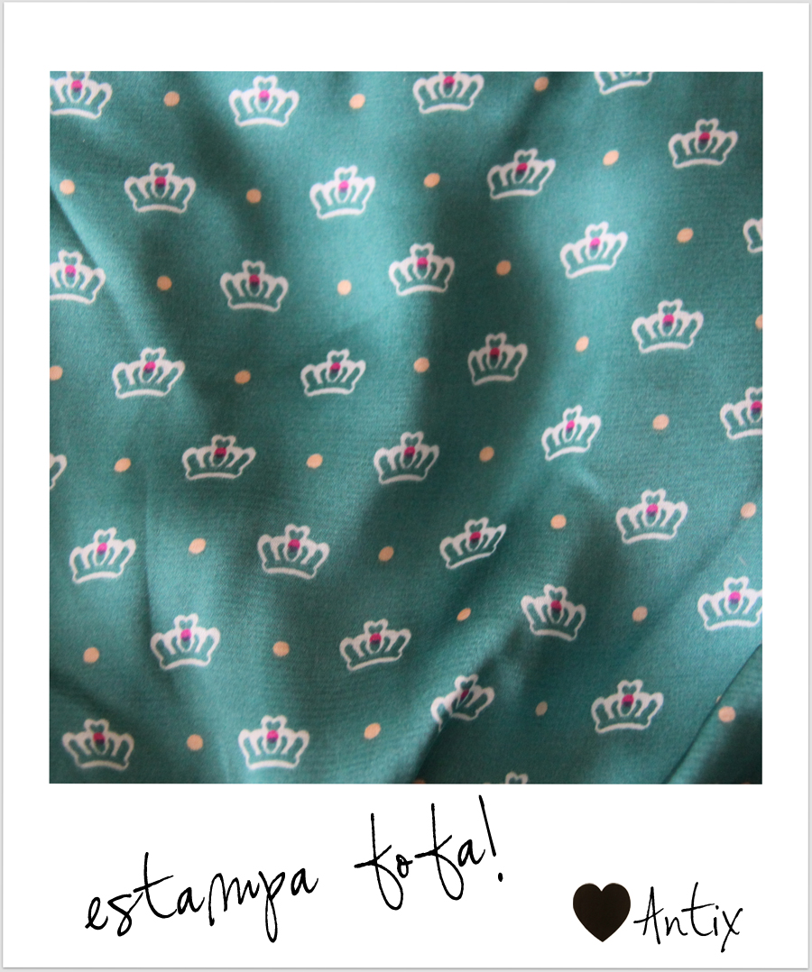 FashionCoolture - Antix estampa fofa coroa vestido  (3)