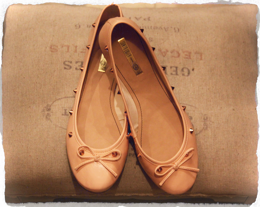 FashionCoolture - ballet flats spiked nude C&A Santa Lolla
