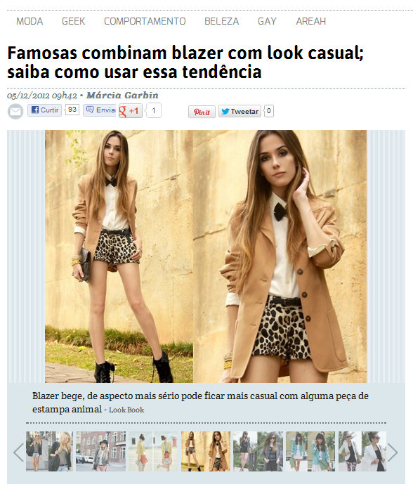 FashionCoolture - Famosas usam blazer em look casual - inspiração lookbook