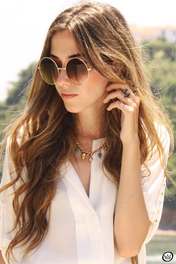 FashionCoolture 06.01.2013 look du jour Rio de Janeiro Labellamafia shirt ethnic pattern hair rounded sunglasses Kafé (2)