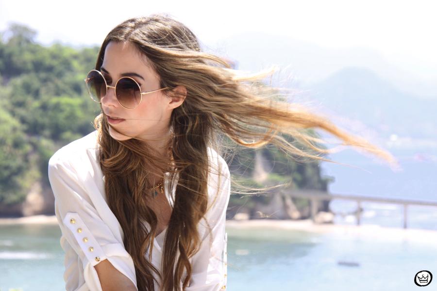 FashionCoolture 06.01.2013 look du jour Rio de Janeiro Labellamafia shirt ethnic pattern hair rounded sunglasses Kafé (4)