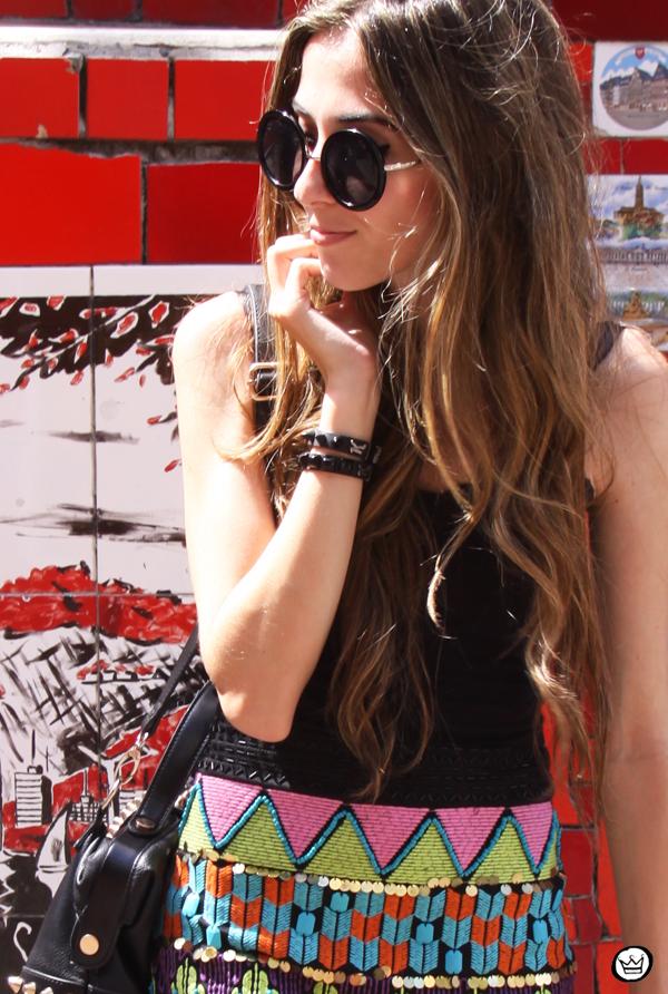 FashionCoolture - 07.01.2013 look du jour ethnic beaded skirt Rio de Janeiro Lapa Selaron hair (6)