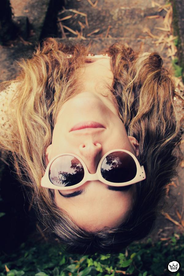 FashionCoolture 09.01.2013 look du jour sequins nude lace shorts Asos Spektre sunglasses hair ombre outfit (6)