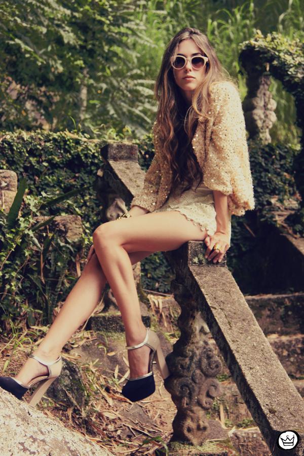 FashionCoolture 09.01.2013 look du jour sequins nude lace shorts Asos Spektre sunglasses hair ombre outfit (7)