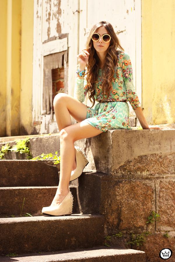 FashionCoolture - 25.01.2013 look du jour Antix dress floral pattern Kafé bracelets Choies (4)