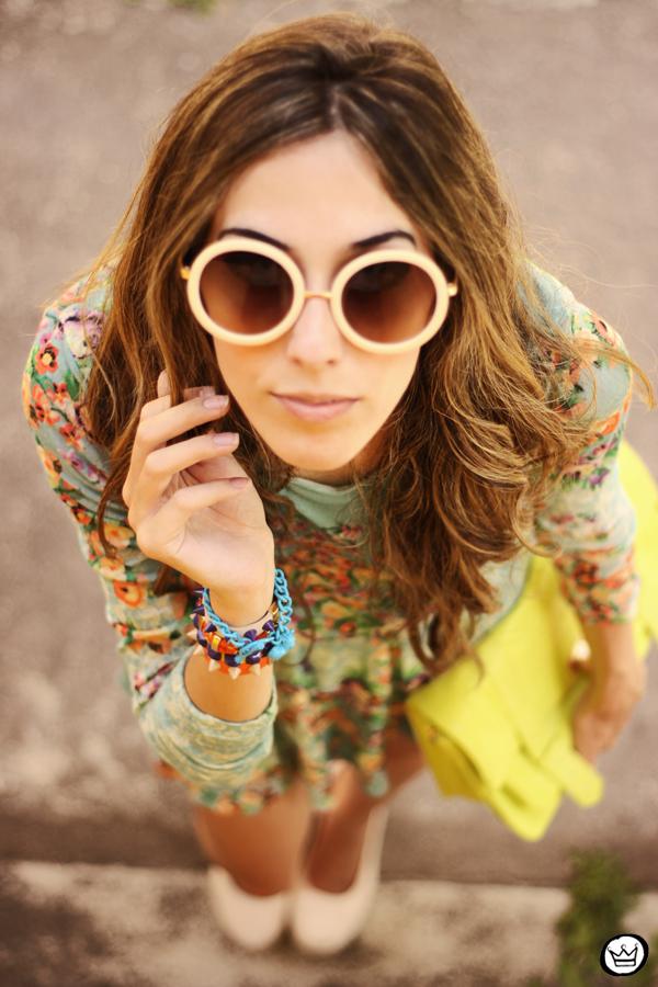 FashionCoolture - 25.01.2013 look du jour Antix dress floral pattern Kafé bracelets Choies (5)
