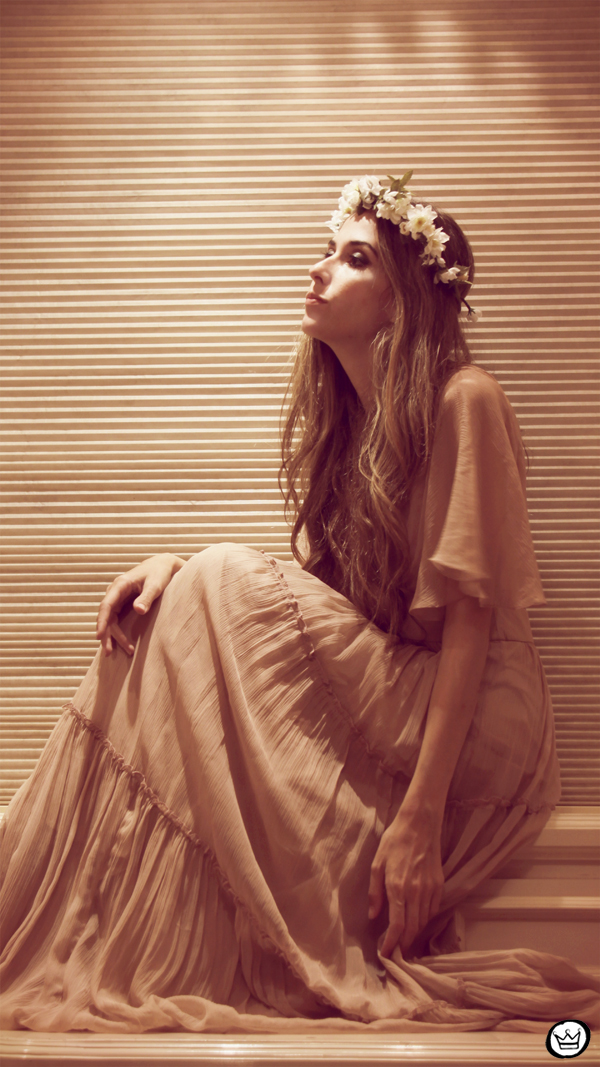 FashionCoolture - 26.01.2013 Romwe long dress vintage nude flowers (1)