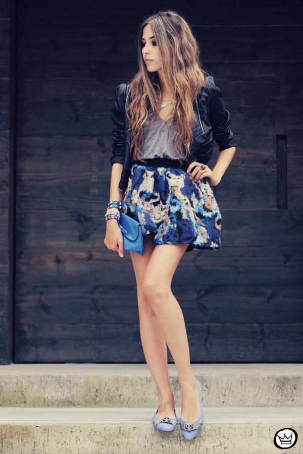 FashionCoolture - 06.12.2013 look du jour GrifeOn Romwe skirt blue jacket blogger Kafé (1)