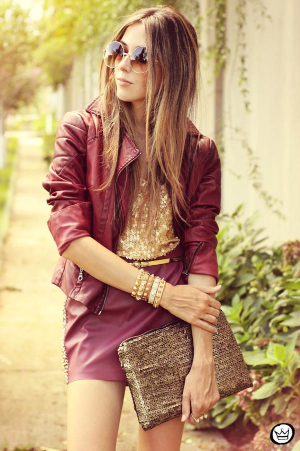 FashionCoolture - 14.02.2013 look du jour burgundy Asos jacket Morena Raiz spikes Kafé bracelets (6)