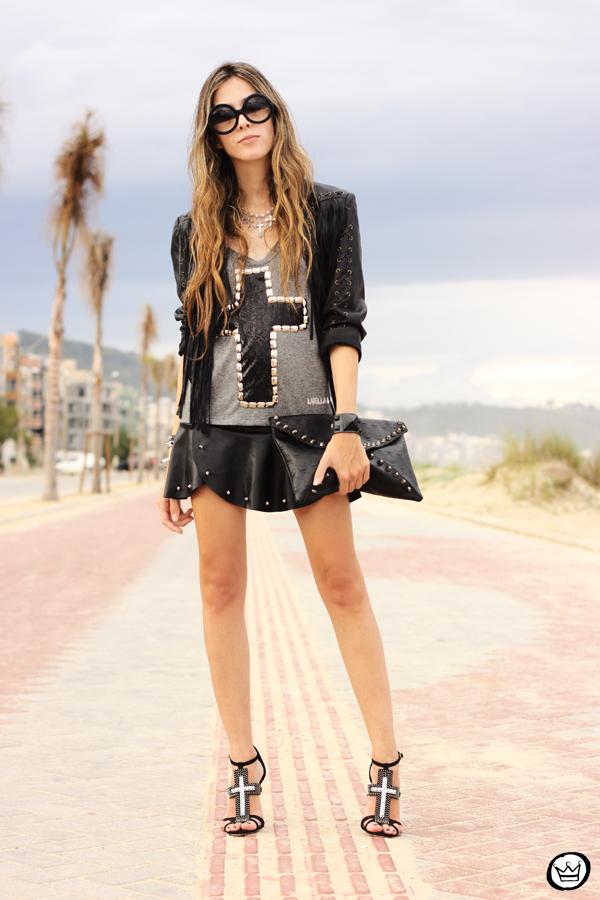 FashionCoolture - 16.02.2013 look du jour Labellamafia cross t-shirt Zara fringe  (1)