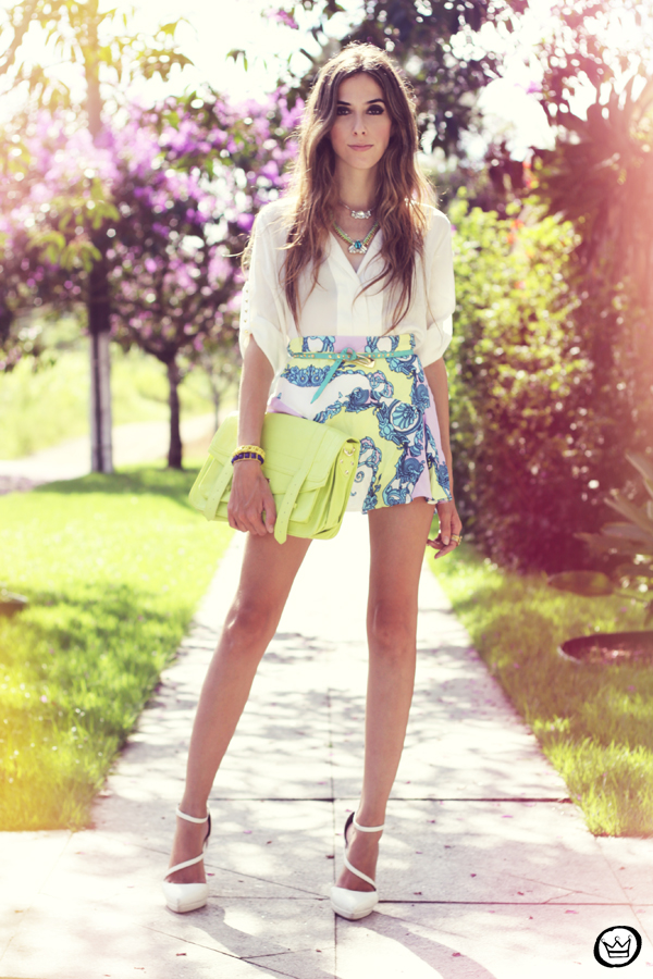 FashionCoolture - 16.02.2013 look du jour Xiquita Bakana Labellamafia summer colours shirt blogger (1)