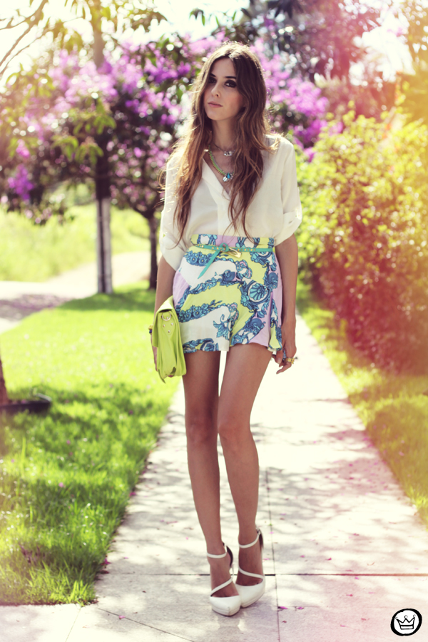 FashionCoolture - 16.02.2013 look du jour Xiquita Bakana Labellamafia summer colours shirt blogger (6)