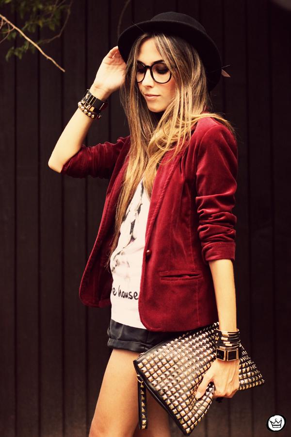 FashionCoolture - 26.02.2013 look du jour Aluska t-shirt velvet blazer renner creepers (7)