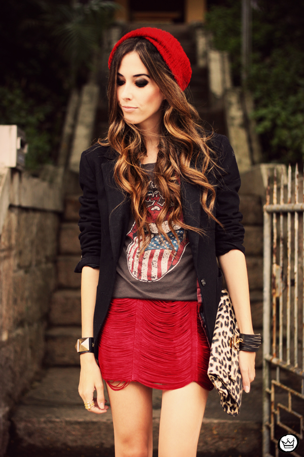 FashionCoolture - 18.03.2013 look du jour Morena Raiz rock chic t-shirt blazer (7).