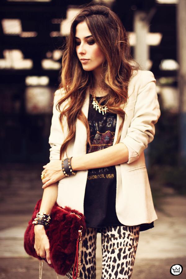 FashionCoolture - 26.03.2013 look du jour Charry leopard pants calça oncinha blazer t-shirt Asos Kafé (7)
