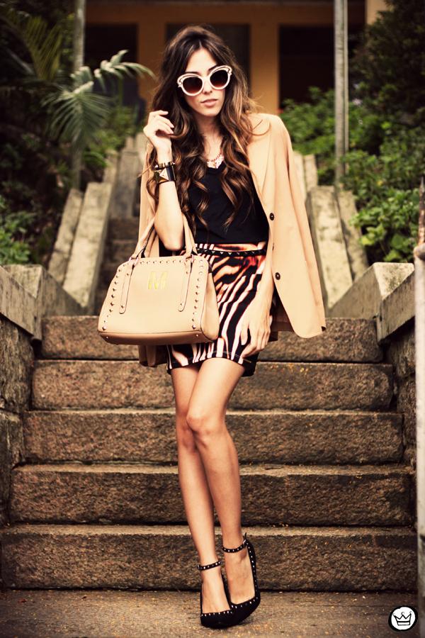 FashionCoolture - 30.03 Displicent blazer vintage skirt Romwe Asos (1)