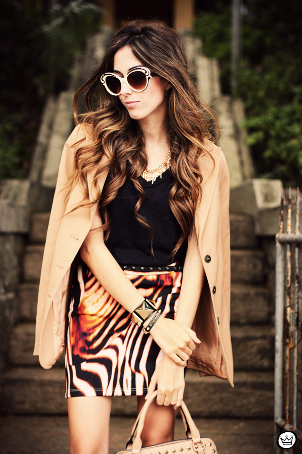 FashionCoolture - 30.03 Displicent blazer vintage skirt Romwe Asos (2)