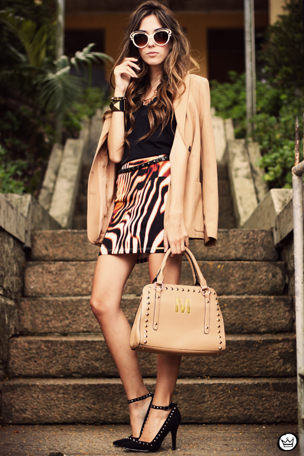 FashionCoolture - 30.03 Displicent blazer vintage skirt Romwe Asos (8)