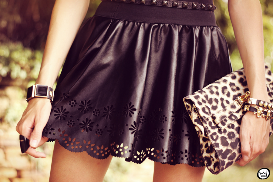FashionCoolture - 03.04.2013 look du jour leopard crop top skater skirt boohoo kafé (3)