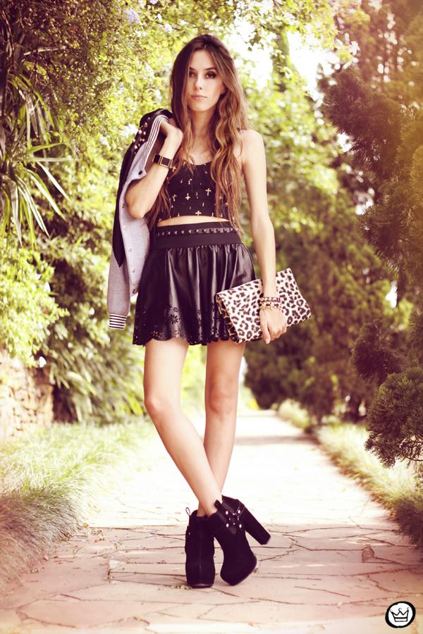 FashionCoolture - 03.04.2013 look du jour leopard crop top skater skirt boohoo kafé (7)