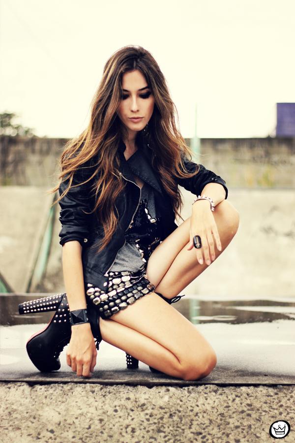 ... FashionCoolture - 05.04.2013 look du jour shorts bordado Xiquita Bakana  Labellamafia Renner cruz jaqueta ... b974060986f