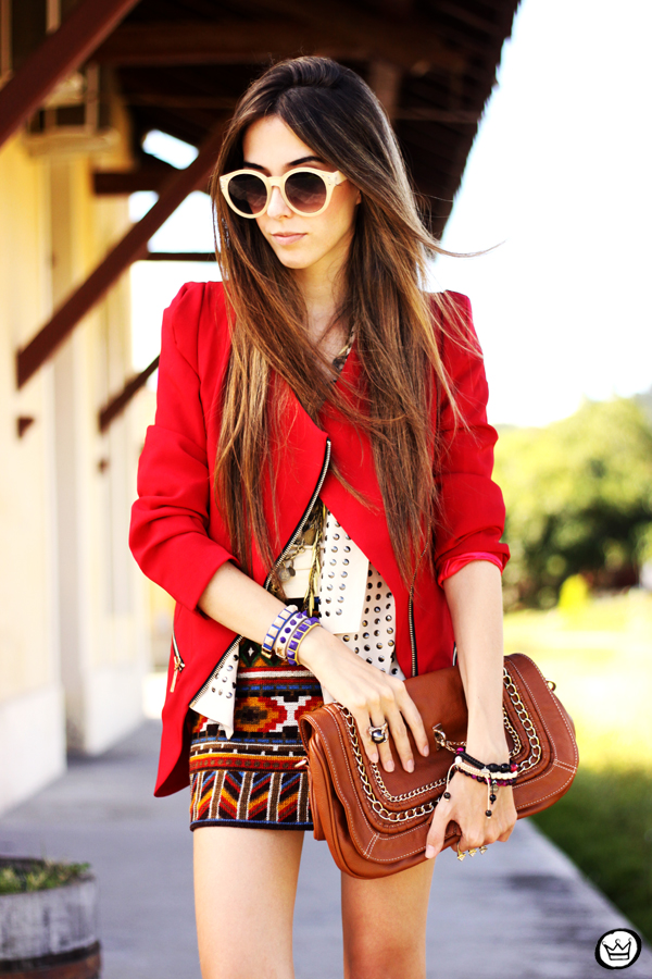 FashionCoolture - 06.04.2013 look du jour Chicwish ethnic blazer red Kafé outfit fashion blogger (9)