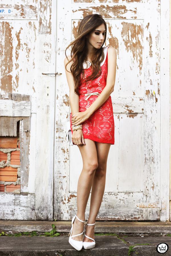 FashionCoolture 12.04.2013 look du jour Furor skull dress red white Asos (1)