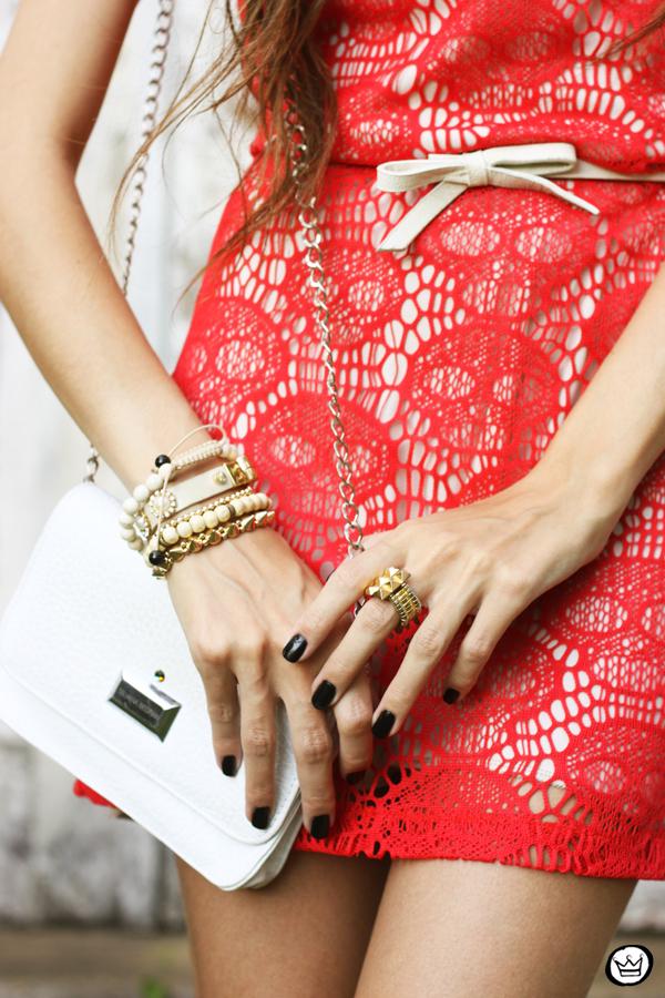FashionCoolture 12.04.2013 look du jour Furor skull dress red white Asos (3)
