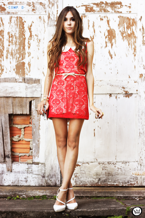 FashionCoolture 12.04.2013 look du jour Furor skull dress red white Asos (4)