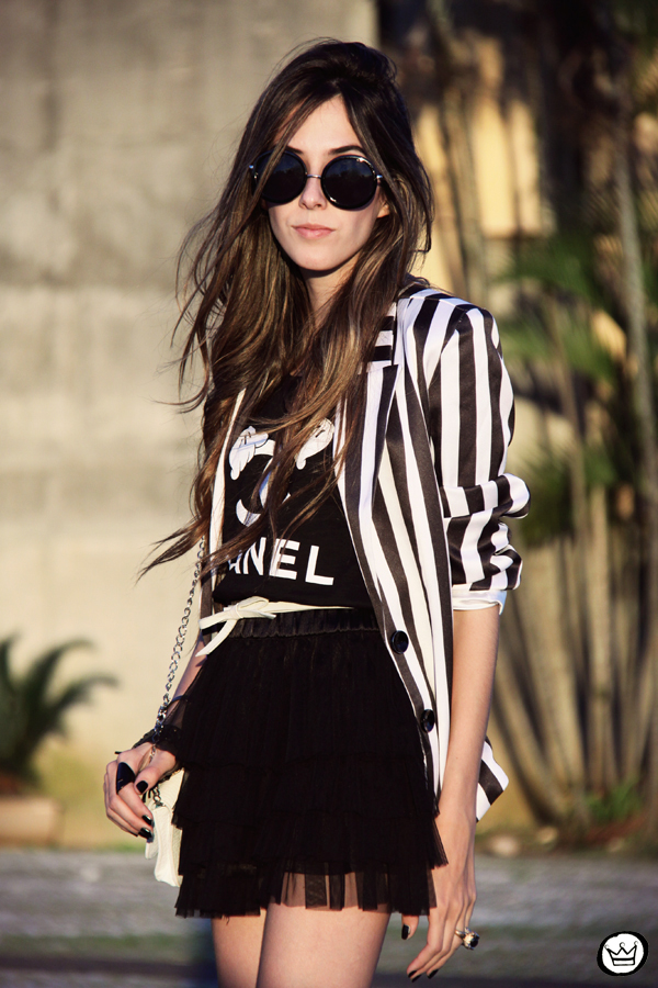FashionCoolture - 16.04.2013 look du jour MIAH t-shirt chanel outfit striped listras (2)
