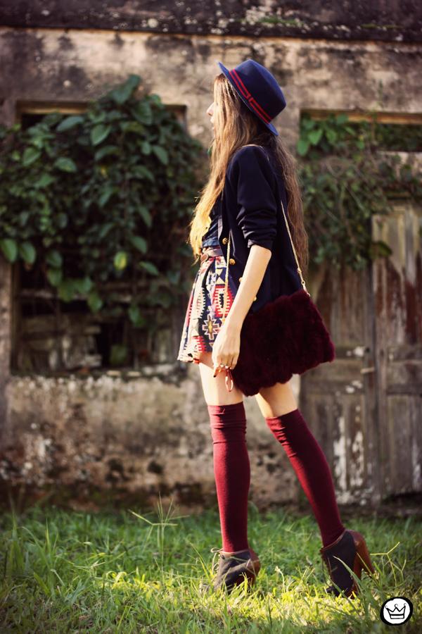 FashionCoolture - 18.04.2013 look du jour Awwdore pattern burgundy hat Asos (4)