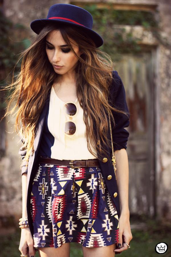 FashionCoolture - 18.04.2013 look du jour Awwdore pattern burgundy hat Asos (5)
