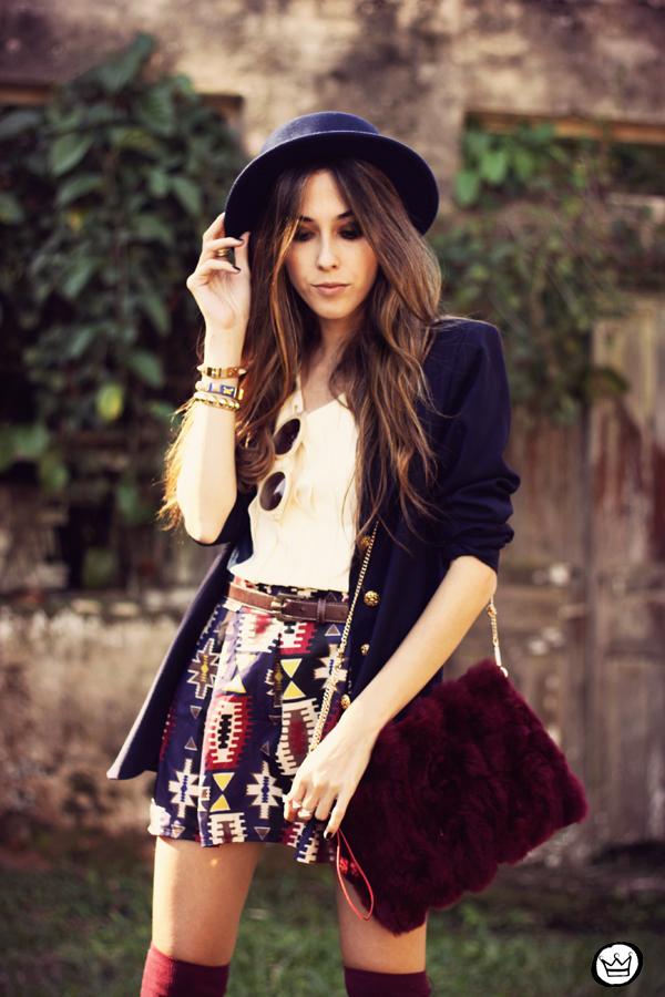 FashionCoolture - 18.04.2013 look du jour Awwdore pattern burgundy hat Asos (7)