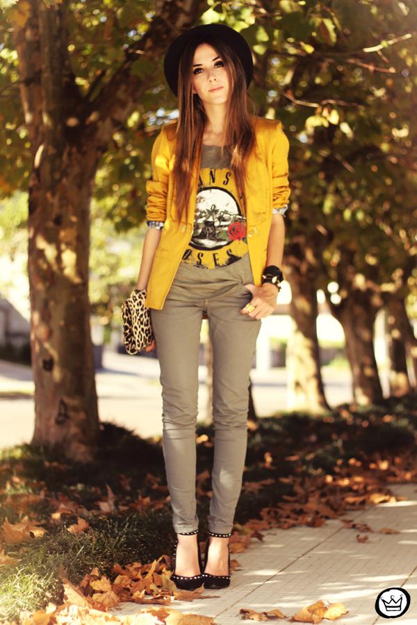 FashionCoolture - 26.04.2013 look du jour Charry green tshirt Asos leopard blzer (1)