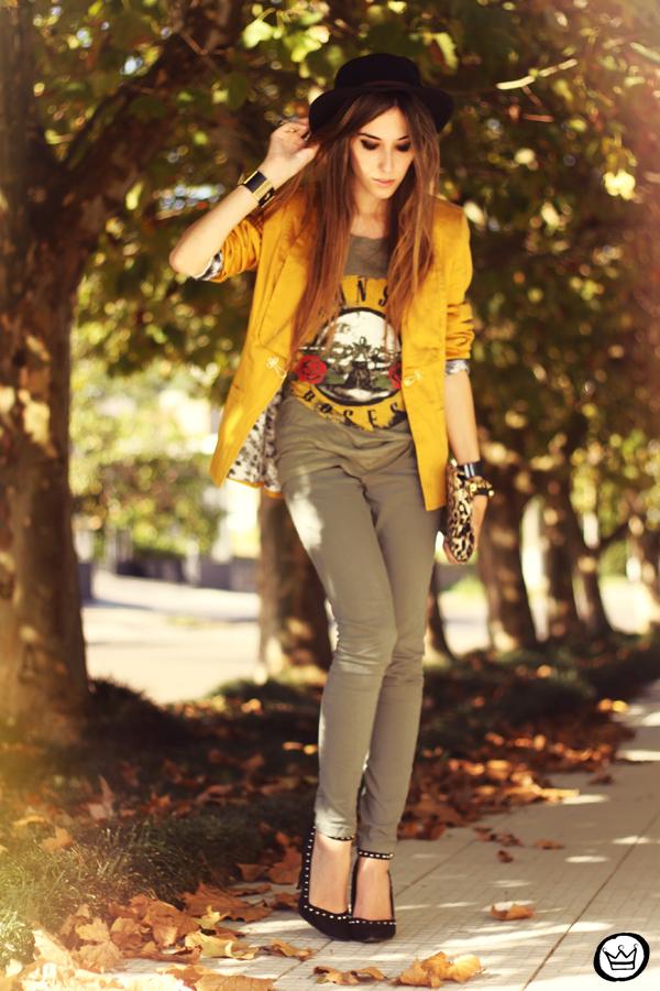 FashionCoolture - 26.04.2013 look du jour Charry green tshirt Asos leopard blzer (5)