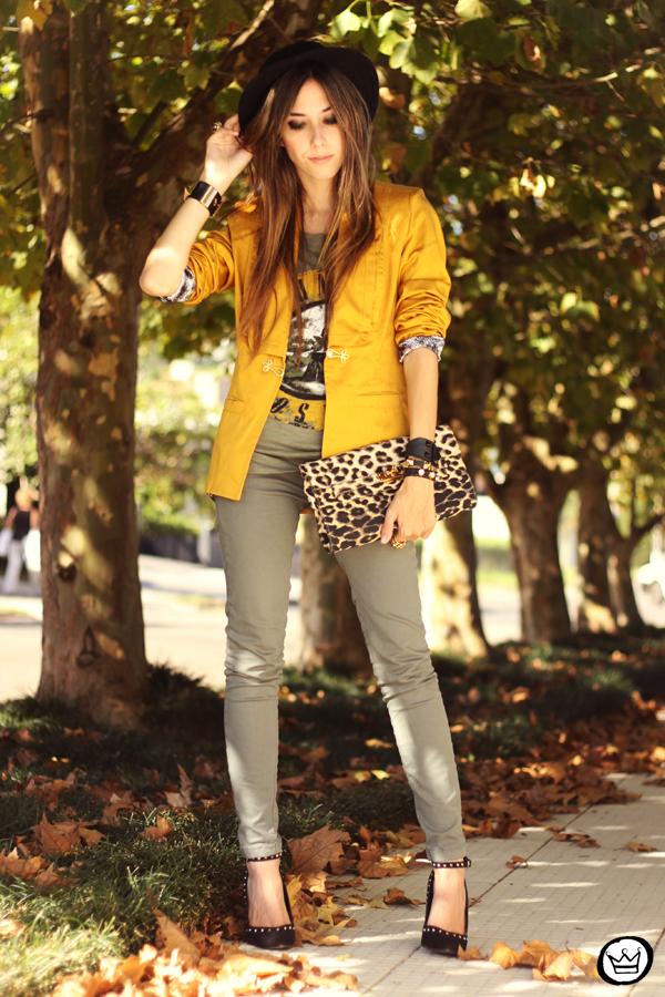 FashionCoolture - 26.04.2013 look du jour Charry green tshirt Asos leopard blzer (7)