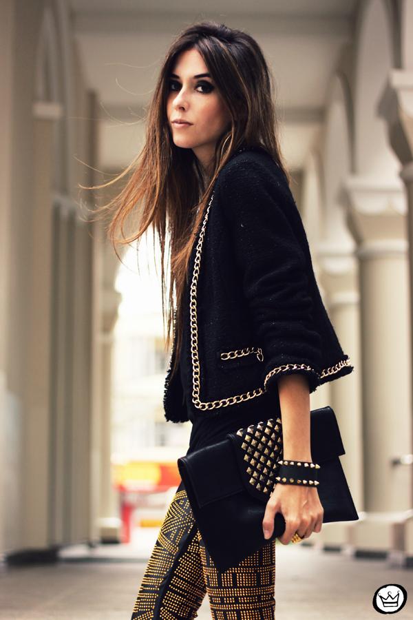 FashionCoolture - 02.05.2013 look du jour legging Labellamafia black (2)