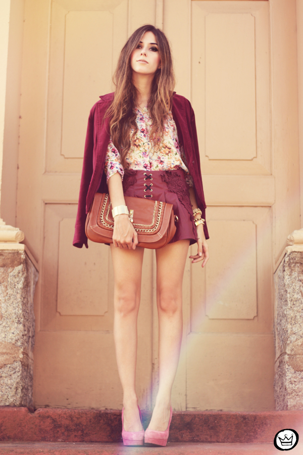 FashionCoolture - 05.05.2013 look du jour burgundy Chicwish Renner floral  (1)
