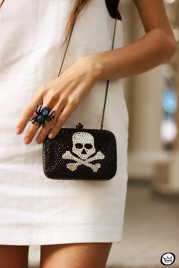 FashionCoolture - 10.05.2013 look du jour black&white Santafina clutch  (4)