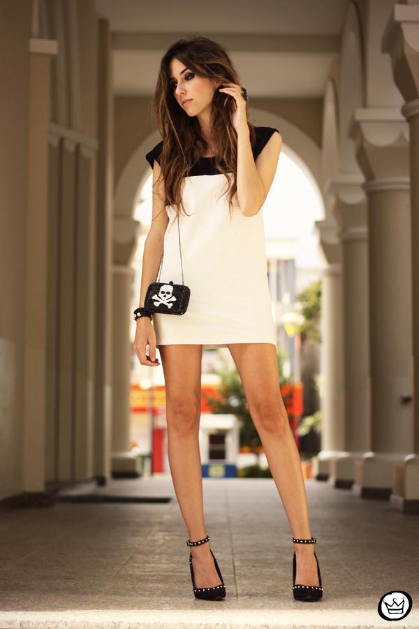 FashionCoolture - 10.05.2013 look du jour black&white Santafina clutch  (5)