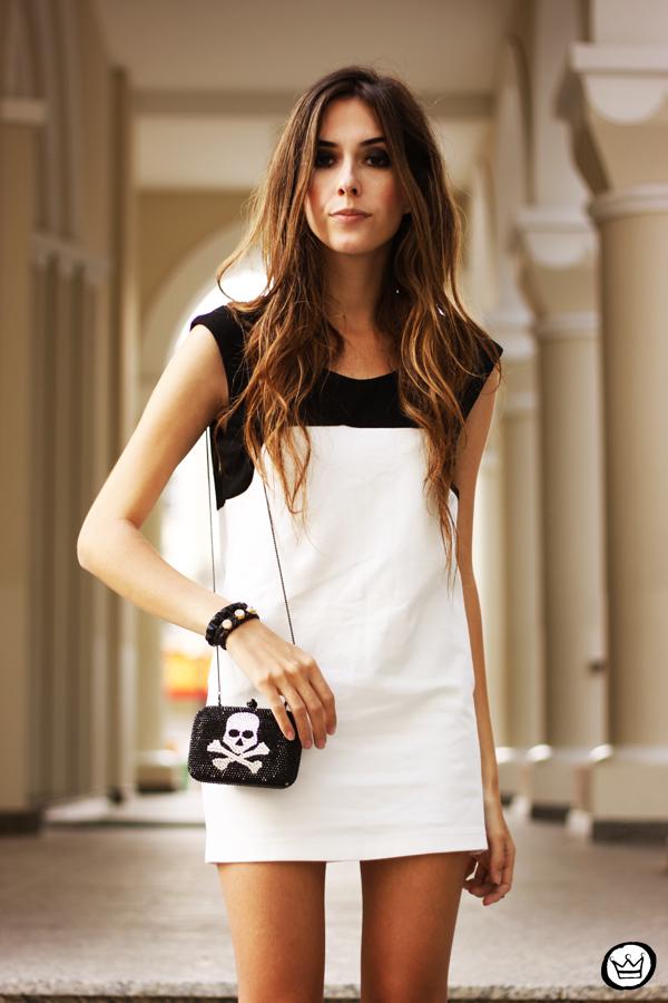 FashionCoolture - 10.05.2013 look du jour black&white Santafina clutch  (6)