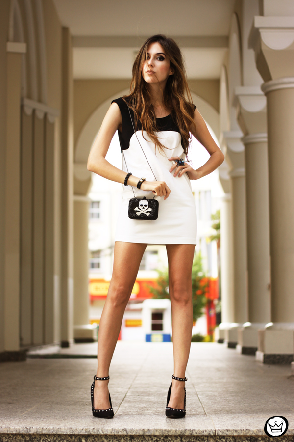 FashionCoolture - 10.05.2013 look du jour black&white Santafina clutch  (8)