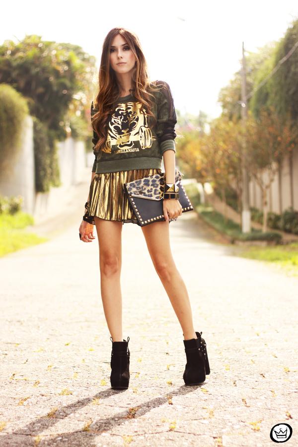 FashionCoolture - 27.05.2013 look du jour Labellamafia pleated golden jumper (8)