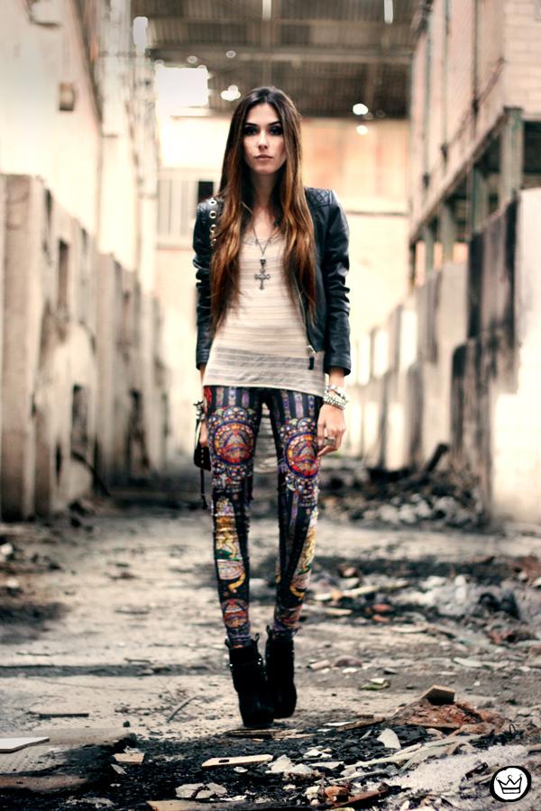 FashionCoolture - 18.06.2013 look du jour Labellamafia legging (1)