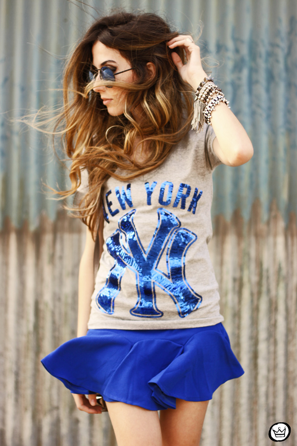 FashionCoolture -09.09.2013 OhKei t-shirt blue yankees (2)