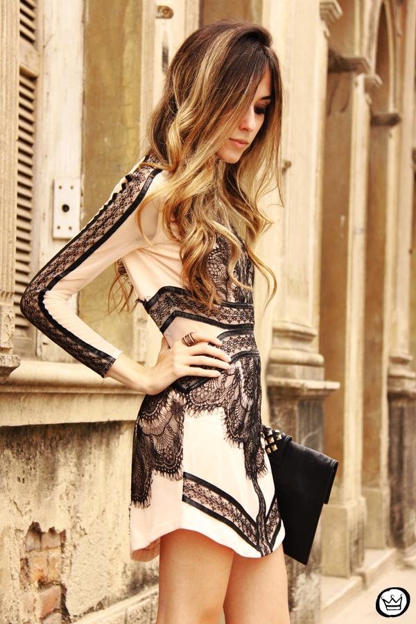 FashionCoolture - 23.09.2013 look du jour lace dress Choies (5)
