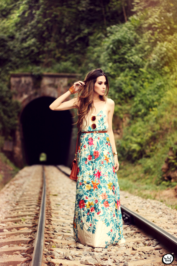 FashionCoolture - 25.09.2013 look du jour Antix floral long dress (1)
