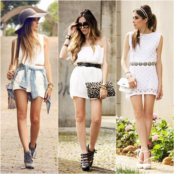 FashionCoolture top little white dress